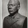 Booker T. Washington, portrait bust in patined plaster