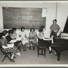 Pupils at the free piano classes conducted by the Federal Music Project's Music Education Division