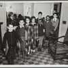 Federal Music Classes, students in coats