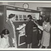 Women viewing an exhibit at Abyssinian Baptist Church