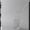 Glass of water with straw