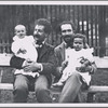 Arturo Toscanini and Enrico Polo, holding their children Walter Toscanini and Riccardo Polo
