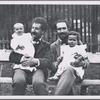Arturo Toscanini and Enrico Polo, holding their children Walter Toscanini and Riccardo Polo