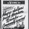 Sensational! Negro dollars pack Harlem Banks - Community ignored