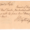 Receipt to Capt. Josh. Morton