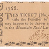 Mountain Road Lottery ticket No. 409