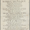 Program for American Company at New Theatre, Phila., April 7, 1767