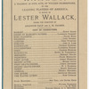 Program for all-star Hamlet benefit for Lester Wallack