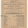 Program for a New York production of Othello starring Edwin Booth and Lawrence Barrett