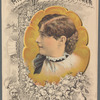 "Brochure, ""Miss Margaret Mather under the management of J.M. Hill."""