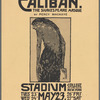 Promotional flier for College of the City of New York production of Caliban. The Shakespeare Masque