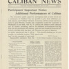 Caliban News publicity flier