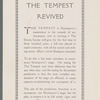 Flier for Drama Society production of The Tempest at Century Theater