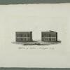 Flyglarna af capitolen i Washington år 1819
