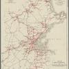 Map of street railways in eastern Massachusetts