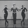 Dancers (straw hats, snapping) in rehearsal for the stage production Dancin'