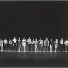 Line-up scene from the stage production A Chorus Line (Philadelphia production)