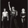 Three unidentified actors from the stage production A Chorus Line (Memphis production)