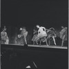 Chita Rivera and chorus in the stage production West Side Story