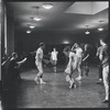 [B3-20] Jerome Robbins directing dancers rehearsing the stage production West Side Story