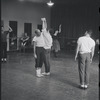 [B3-22A] Jerome Robbins directing dancers in rehearsal for the stage production West Side Story