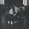 [B3-22A] Unidentified actress and actor in rehearsal for the stage production West Side Story