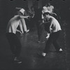 [B3-22B] Unidentified actress and Jerome Robbins in rehearsal for the stage production West Side Story