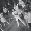 [B3-22B] Peter Gennaro and dancers in rehearsal for the stage production West Side Story