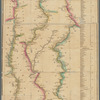 A new map of the western rivers, or, Travellers guide: exhibiting the Mississippi, Missouri, Ohio, and Illinois rivers with all the principal towns, islands & distances