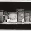 Maria's bedroom set design by Oliver Smith for the stage production West Side Story at the Winter Garden Theatre