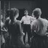 Leonard Bernstein, Carol Lawrence and other cast members during rehearsal for the stage production West Side Story