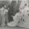 "Actor Edward Matthews as St. Ignatius, actress Bruce Howard as St. Teresa II and actress Beatrice Robinson-Wayne as St. Teresa I in the theatrical production ""Four Saints in Three Acts,"" 1934"