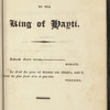 A Poetical Epistle to the King of Hayti