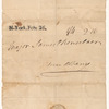 Letter from Philip Schuyler to Major James Van Rensselaer
