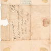 Letter from Philip Schuyler to his daughter Catherine Schuyler