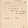 Letter from Philip Schuyler to Richard Davis
