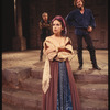 Margaret Whitton (as Bianca), John Heard (as Cassio), and Richard Dreyfuss (in the background, as Iago,) in the stage production Othello