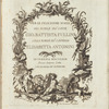 Per le felicissime nozze del nobile sig:r conte Gio: Battista Fullini colla nobile sig:a contessa Elisabetta Antonini