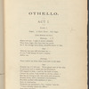 Othello: Tragedy in five acts