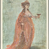 Costume design by Desmond Heeley for Helen in Troilus and Cressida