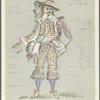 Costume design by Desmond Heeley for Cyrano in Cyrano de Bergerac