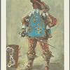 Costume design by Desmond Heeley for a Musketeer in The Three Musketeers