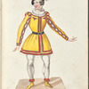 Costume designs for the ballet La Pastorella Svizzera