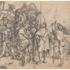 Five Lansquenets and an Oriental on Horseback