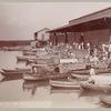 Boat scene at the market, Tampico