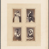 Studio portraits of unidentified Peruvian women, Pl. 07 A-D