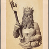 """Neptune"" cut in wood by Nicolas Youngström, a Swedish sculpture in Lima, recieved a gold medal at the [International] exhibition, 1869"