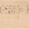 Sketch floor plan for Schuyler's house in Saratoga
