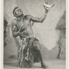 "Abdul Assen as the Witch Doctor in Asadata Dafora's dance-opera ""Kykunkor,"""