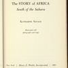 The Story of Africa South of the Sahara